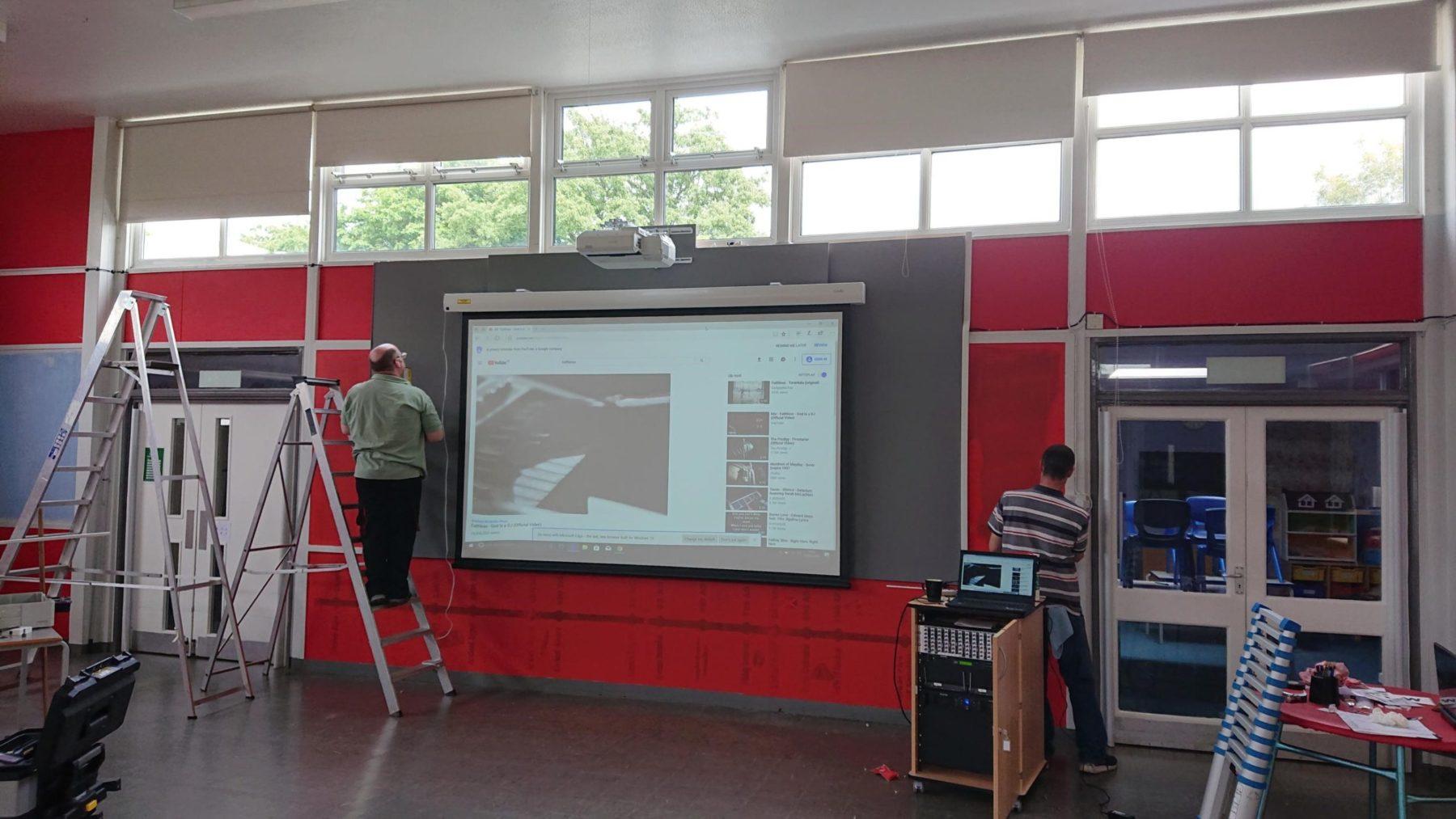 Harlow School Hall AV Installation