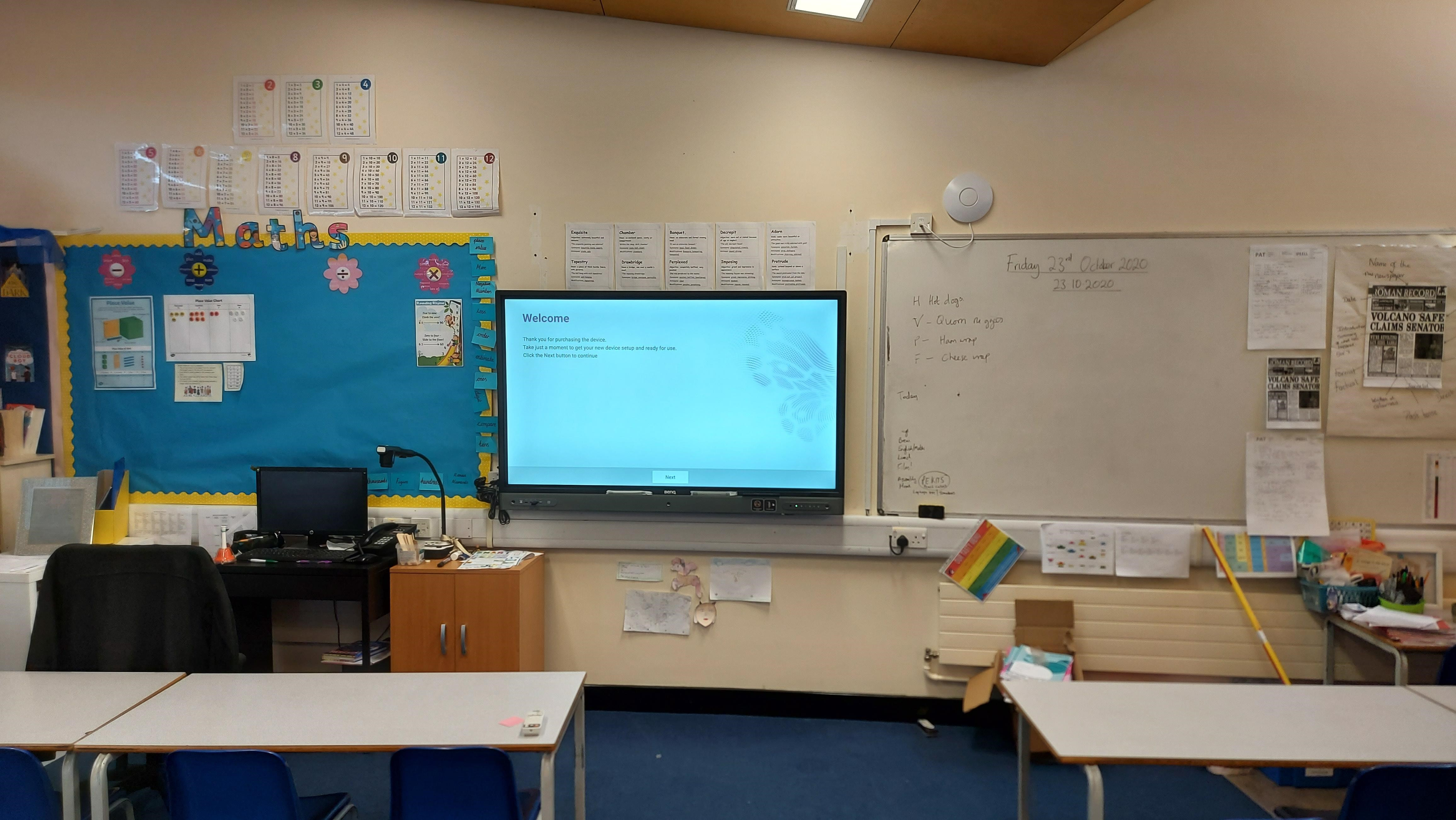 Essex School BenQ Screens Installation